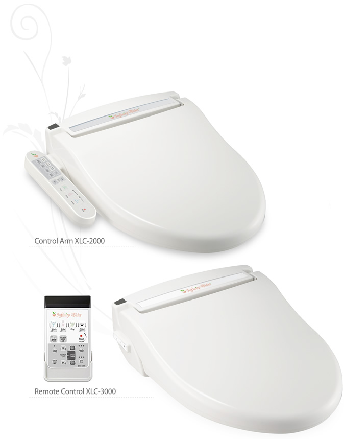 Infinity XLC-2000 Bidet Seat with side-panel control & Infinity XLC-3000 Bidet Seat with remote control